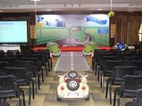 Car theme Stage layout with cutouts and car