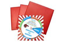 Pinwheel based interactive invitation card - Circus
