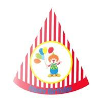 Red striped clown / carnival hat - Circus