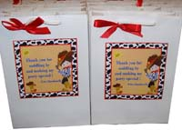 Cowboy theme Stickered gift bags