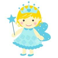 Fairy Princess theme Blue fairy with crown - poster