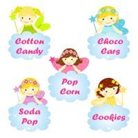 Fairy Princess theme Shaped Fairy food labels