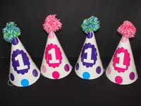 Blue and Pink polka hats - Others