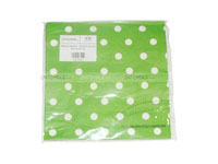 Tissue Paper - Green Polka  (Pack of 20) - Party Supplies