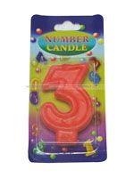 Number Candle - 3 - Party Supplies