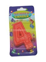 Number Candle - 4 - Party Supplies