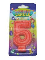 Number Candle - 5 - Party Supplies