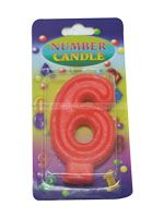Number Candle - 6 - Party Supplies