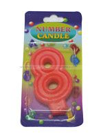 Number Candle - 8 - Party Supplies