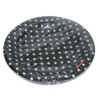 Birthday Party Plate - Black and white polka - Dirt Bike