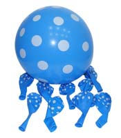 Blue & white polka balloons (Pack of 10)