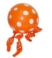 Orange & white polka balloons (10) - Baby Zoo
