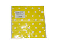 Tissue Paper - Yellow Polka  (Pack of 20) - Party Supplies