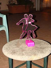 Couple dancing centerpiece - Hip Hop Retro
