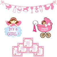 Baby girl announcement kit - Baby Announcement