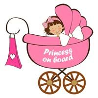 Princess on board - Baby Announcement