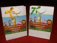 Stickered gift bags
