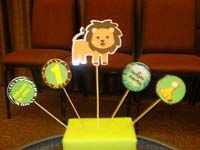 Baby Zoo birthday theme Lion centerpiece