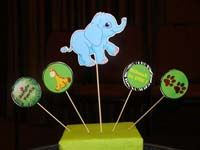 Baby Zoo birthday theme Elephant centerpiece