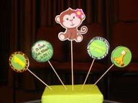 Baby Zoo theme Monkey centerpiece