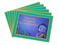 Little Krishna theme Thank you cards