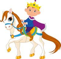 Little Prince theme Little prince riding a horse