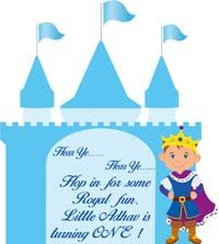 Little Prince theme Castle and confident prince cutout