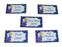 Little Prince theme Dark blue food labels