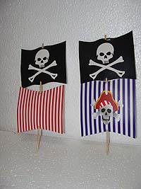 Boat sail toppers - Pirate birthday