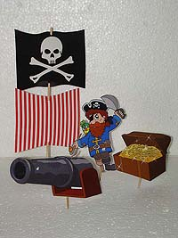 Character toppers - Pirate birthday