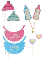 Photo Props - Pink Baby Shower