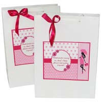 Pink & Blue  theme Stickered gift bags