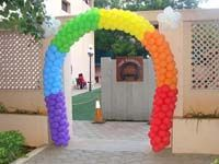 Single multi color arch
