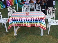 Rainbow theme Guests table cover