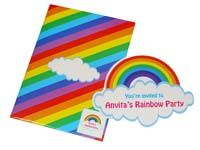 Rainbow shaped invite