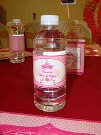 Royal Princess theme Water bottle wrappers