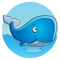 Underwater theme Blue whale