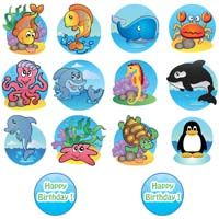 Underwater theme 14 single sided wall cutouts