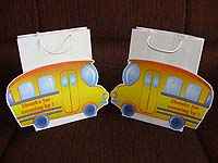 Bus gift bags