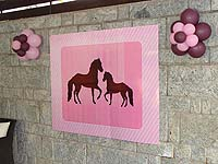 Vintage Pony theme Horse and pony poster
