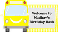 Wheels on a bus theme Welcome banner