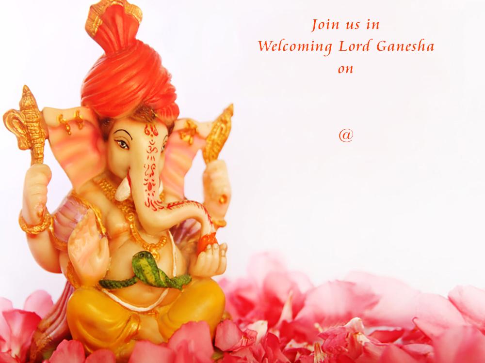 Ganesh Chaturthi Invites Free Personalised Greetings
