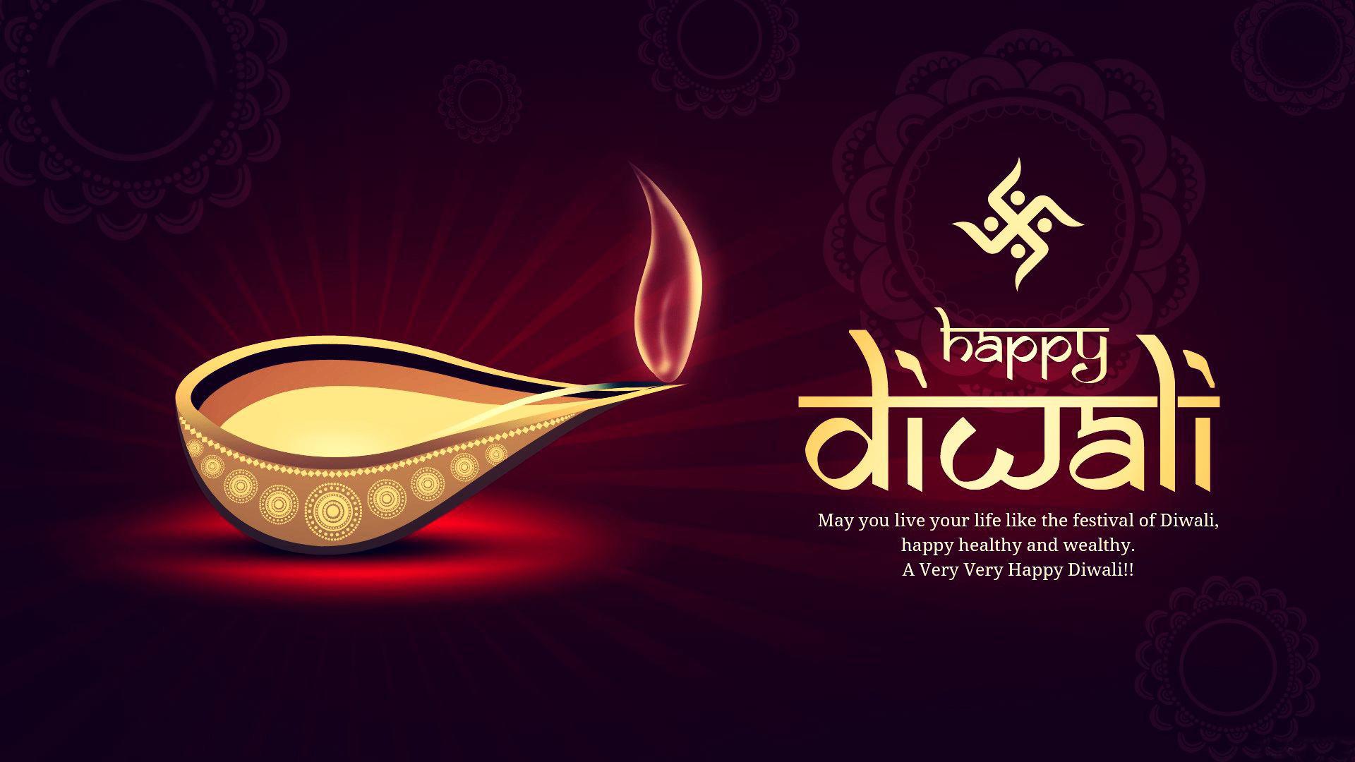 Lantern Diwali Free Personalised Greetings
