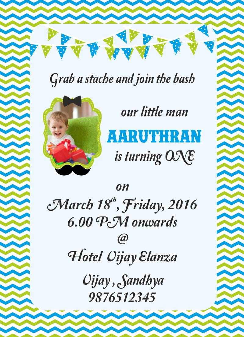 Little Man theme free birthday invitation free personalised greetings