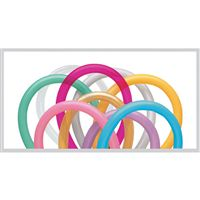 Assorted Colored Tube Balloons (Pack of 10)