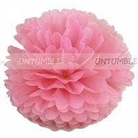 Baby Pink Paper Pom poms - Maternity Props