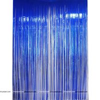 Blue 3x3 foil curtains (set of 2)
