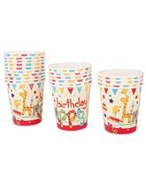 Baby Zoo theme Happy Birthday Animal Cups