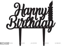 Happy BIrthday candle Cake Topper