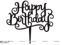 Happy BIrthday Cursive 2 Cake Topper